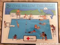 1989 American Red Cross Whale's Tales Poster Swimming Lessons
