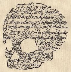 Writer Shakespeare To Be or Not to Be by EmbroideryEverywhere