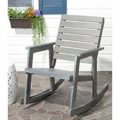 Safavieh Geneva Wood Patio Rocking Chair