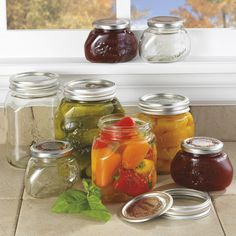 Leifheit jars with 2-piece lids. (made in Germany)