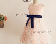 flower girl dresses navy and blush pink - Google Search