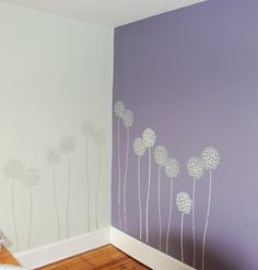 Accent wall stencils in a room. Beautiful wall stencils by Cutting Edge… Cutting Edge Stencils, Purple Pattern, Paisley Pattern, Big Girl Rooms, Beautiful Wall, Wall Colors, Wall Decals, Room Decor, Nursery