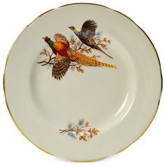 3 Fine Bone China Gilded and Pheasant Decorated Saucers, Vintage Engli | Lavish Shoestring™