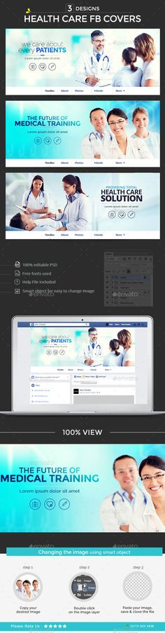 Health Care Facebook Covers - 3 Designs