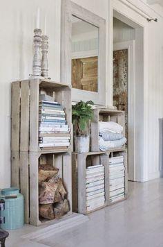 decorar con cajas de madera 6