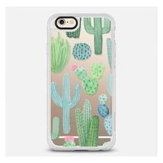 Casetify Desert Cactus Garden Iphone Case Green, Pink, Blue By ($40) ❤ liked on Polyvore featuring accessories, tech accessories, electronics accessories, green iphone case, iphone cover case, iphone cases, apple iphone cases and pink iphone case