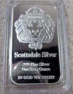 1 Oz The One Silver Bar By Scottsdale Silver 999 Fine Silver Coins Paper Money Bullion Silver Ebay Silver Bars Fine Silver Silver Coins