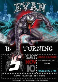 14 Spiderman Birthday Inivtation Ideas Spiderman Birthday Spiderman Spiderman Invitation