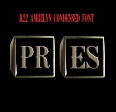 Bronze PRES 2 Piece Ring Set-Custom Size-Inc Shipping #Handmade #StatementSignet