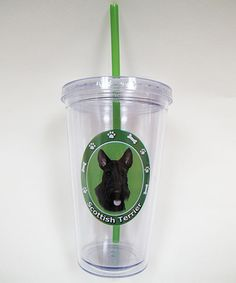 Take a look at this Scottish Terrier Tumbler & Straw by E & S Imports on #zulily today!