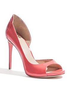 Pink shoes for production number.