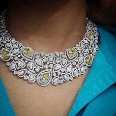 Diamond Necklaces : . #GoldJewelleryHeavy