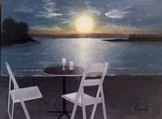 Jamaican Sunset by L Gaudet on Etsy. Visit lgaudetart.ca to view more paintings.