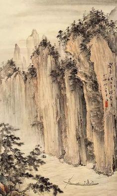 【现当代名家】胡也佛山水画作欣赏