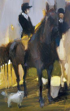 "Saatchi Online Artist: Iryna Yermolova; Oil 2013 Painting ""Rider. Sketch 1"""