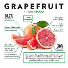 Is grapefruit a part of your diet? Citrus fruits like grapefruit can boost your immune system (with Vitamin C) in the colder months.