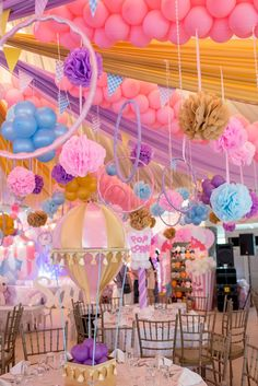 Safi's Girly Carnival Themed Party – Birthday - Party Doll Manila Dumbo Birthday Party, Carousel Birthday Parties, Carousel Party, Carnival Themed Party, Circus Birthday, Baby Party, 1st Birthday Parties, Carnival Parties, Turtle Birthday