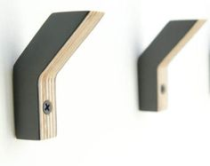 Baltic birch plywood wallhooks - set of three - no 2
