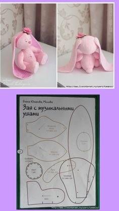 Sewing toys patterns free sweets 52 ideas for 2019 Sewing Stuffed Animals, Stuffed Animal Patterns, Bunny Toys, Bunny Plush, Felt Bunny, Bunnies, Plush Pattern, Fabric Toys, Sewing Dolls