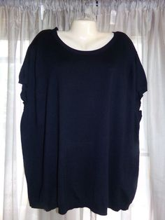 dc990a2ccec NWT Women s Calvin Klein Black Knit Cap Sleeve Top - size 3X  fashion   clothing  shoes  accessories  womensclothing  tops (ebay link)