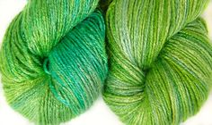 Organic 100 % bamboo yarn vegan yarn hand dyed by Klarabela