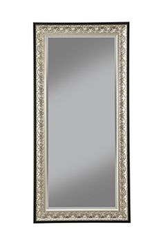 buy sandberg furniture 16011 full length leaner mirror frame antique silverblack topvintagestyle