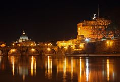View of St. Peter's Basilica and Saint Angelo Castle, Rome
