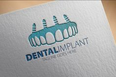 Check out Dental Implant Logo by samedia on Creative Market