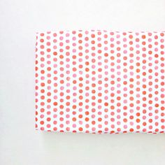 Changing Pad Cover Watercolor Coral Dots. Change Pad. by Iviebaby