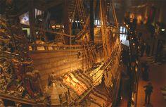 Buque de guerra Vasa del siglo XVII, en el museo Vasa