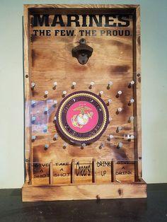 Marines Drinko Plinko Bottle Opener Game