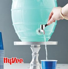 Got a graduation party coming up? Slushy Blue Punch is what you need - change the color by using a different flavor of gelatin.