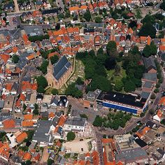 The village of Den Burgh, on the island of Texel,one of the Waddeneilanden, north of Holland
