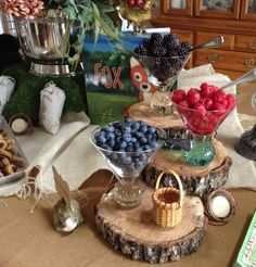 Orchard Berries on the Woodland Baby Shower menu