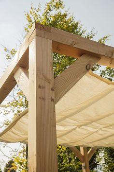 Backyard Pavilion, Outdoor Pergola, Backyard Pergola, Backyard Patio Designs, Pergola Designs, Construction Veranda, Wooden Gazebo, Home Landscaping, Garden Design