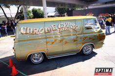 Chrome Gypsy custom van at #SEMA 2013