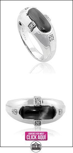Midwest joyas anillo para hombre 14K oro blanco Ojo de gato simulado Gallery trasera 0,02quilates diamantes  ✿ Joyas para hombres especiales - lujo ✿ ▬► Ver oferta: https://comprar.io/goto/B0193YZL0C