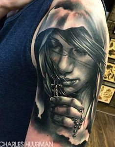 Realism Religious Tattoo by Charles Huurman - http://worldtattoosgallery.com/realism-religious-tattoo-by-charles-huurman-2/