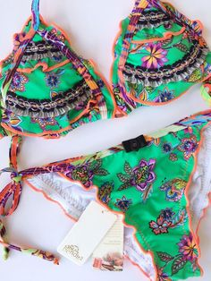 Agua Bendita Swimwear Bikini Set Size M Bathing Suit Colombia | eBay
