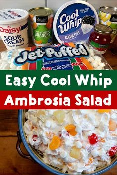 Easy Cool Whip Ambrosia Salad Recipe This recipe for Cool Whip Ambrosia Salad ri. Easy Cool Whip Ambrosia Salad Recipe This recipe for Cool Whip Ambrosia Salad ridiculously good. Fruit Salad Making, Dressing For Fruit Salad, Best Fruit Salad, Fruit Salad Recipes, Fruit Salad Cool Whip, Creamy Fruit Salads, Fresh Fruit, Ambrosia Recipe, Ambrosia Salad