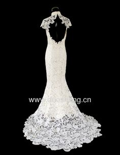 Italian imported lace for this wedding dress, also improved cheongsam, backless~~~sexy
