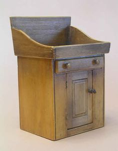 Miniature Shaker Wash Stands  #5 Washstand with drawer and cabinet