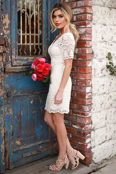1f88de67ac Love Story Crochet Dress in Cream