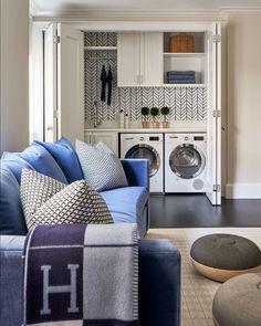 Tiny Laundry Rooms, Laundry Room Shelves, Laundry Closet, Laundry Room Design, Laundry In Bathroom, Corner Shelving Unit, Floor Shelf, Wooden Floating Shelves, Shelf Design
