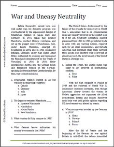 Cold War Aims | Free printable worksheet for high school American ...