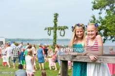 View Stock Photo of Girls Posing With Maypole In Background Ronneby Blekinge Sweden. Find premium, high-resolution photos at Getty Images.
