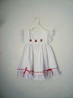 Vintage White Flutter Pinafore Dress Size 3T by OhSydney on Etsy, $15.00