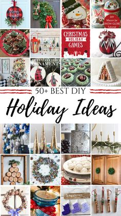 A collection of DIY Christmas projects inclduing homemade craft ideas for holiday signs, handmade ornaments, holiday wreaths, party games and recipes. Diy Christmas Decorations For Home, Christmas Centerpieces, Diy Christmas Gifts, Christmas Projects, Handmade Christmas, Holiday Crafts, Holiday Fun, Holiday Ideas, Holiday Signs
