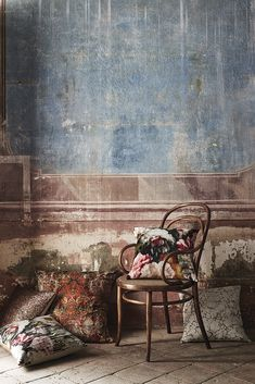 Faux Painting, House Painting, Motifs Textiles, Distressed Walls, Brick In The Wall, Decor Logo, Old Wall, Paint Effects, Wall Treatments