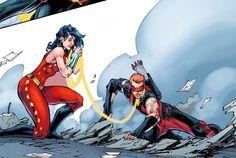 roy harper donna troy | Tumblr Dc Comics Women, Dc Comics Art, Fun Comics, Marvel Dc Comics, Red Arrow Dc, Dc Couples, Roy Harper, Young Avengers, Fantasy Comics
